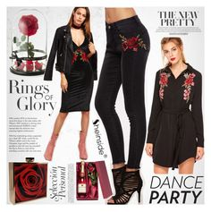 """""""Dance Party!"""" by vanjazivadinovic ❤ liked on Polyvore featuring Tiffany & Co., Sheinside, partydress, polyvoreeditorial and danceparty"""