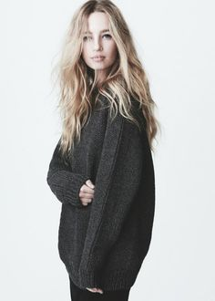oversized sweater + tousled hair