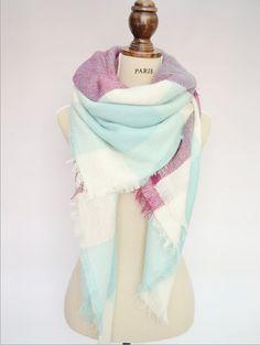 Blanket Za Écharpe d hiver de Noël Marque cache-cou poule Cachemire Tartan  Plaid 5235971c0e8