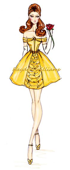 """Belle"" [The Disney Diva's Collection] Illustrator & Fashion Designer ~Hayden Williams~ [July 25 2012]"