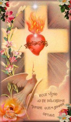 Catholic Prayers, Catholic Art, Religious Art, Pictures Of Jesus Christ, Religious Pictures, Jesus Tattoo, Prayer Box, Prayer Cards, Catholic Tattoos