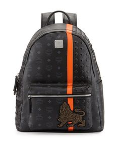 N2XLF MCM Munich Logo Backpack, Black