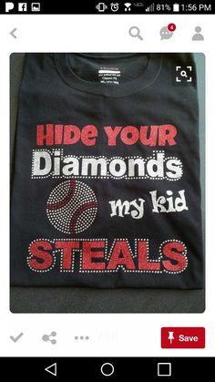 ecf326efe Funny Softball Shirts, Baseball T Shirts, Sports Mom Shirts, Softball  Stuff, Softball