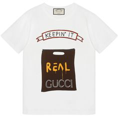 Gucci Angelica Hicks Limited Edition t-shirt ❤ liked on Polyvore featuring tops, t-shirts, white tops, white tee, gucci tee, gucci and gucci top