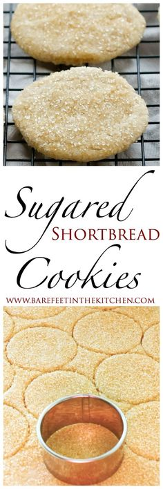 Sugared Shortbread Cookies Recipe - get the recipe at barefeetinthekitchen.com