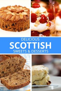 The Scots have an impressive sweet tooth! Find out which desserts are favorite 'north of the border' Food Recipes Casseroles, Food Recipes Deserts Scottish Desserts, Scottish Dishes, Scottish Recipes, Irish Recipes, Uk Recipes, Dessert Recipes, Cooking Recipes, What's Cooking, Cooking Time