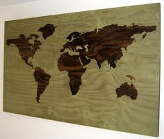 MADE TO ORDER Rustic World Map Wall Hanging by jocedesigns on Etsy, $115.00