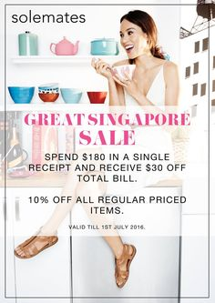 Solemates SG GSS Spend $180 & Enjoy $30 Off ends 1 Jul 2016 - Why Not Deals 1