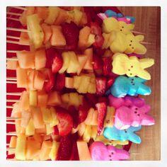 Easter fruit  Kabobs
