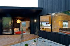 Kerr Ritchie Architects have designed the Dublin Street House located in Queenstown, New Zealand. The large windows in the home take advantage of the are