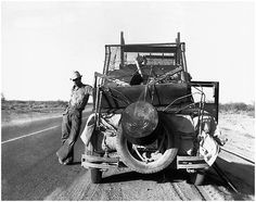 indypendenthistory:  Dorothea Lange - Migrant cotton pickers November 1940 near Eloy Arizona
