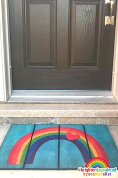 This bright and cheerful #rainbow ecoTrend doormat was donated to thousands of health care heroes and other essential workers during COVID19, to show appreciation for their amazing strength and resilience in keeping us safe!  #rainbowtrail #rainbow #rainbowofhope #thankshealthheroes Show Appreciation, Doormats, Front Door Decor, Health Care, Strength, Rainbow, Bright, Amazing, Home Decor