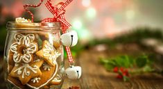 """Christmas Cookies in a jar on Wooden background with Christmas Holly"" created by circleps Christmas Eve Box, A Christmas Story, Christmas Photos, Christmas Cookies, Xmas, Christmas Ornaments, Christmas Eve Traditions, Cookie Images, Gift Ideas"