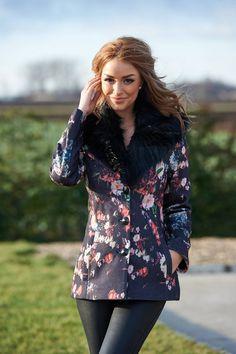 LaDonna Autumnal Flowers Black Jacket