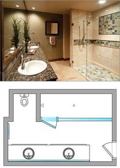 #Bathroom Design Ideas From Dulles Glass and Mirror: inline shower door