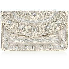 Accessorize Crystal Embellished Clutch Bag ($44) ❤ liked on Polyvore featuring bags, handbags, clutches, evening clutches, sequin purse, cocktail purse, sequin clutches and special occasion handbags