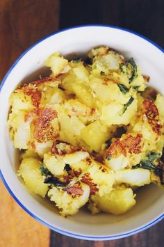 Creamy + Toasted Warm Spiced Potatoes (Gluten Free, Vegan)