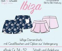 Ebook - Damenshorts Ibiza Gr. 34 - 52