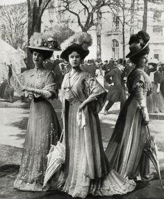 Gibson Girls, 1906-1909.