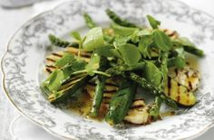 Griddled halloumi, courgette and asparagus recipe - goodtoknow
