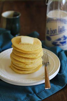 Buttermilk Cornbread Pancakes (gluten free) | www.theroastedroot.net #glutenfree