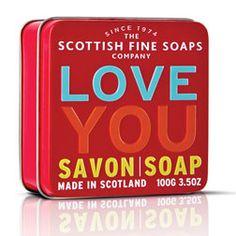 Scottish Fine Soaps in a tin