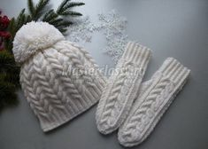 Amazing Cooking (Search results for: knitting) Baby Boy Knitting Patterns, Crochet Patterns, Knit Crochet, Crochet Hats, How To Purl Knit, Knitting Accessories, Mitten Gloves, White Patterns, Baby Hats