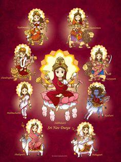 Sri Nav Durga by In-Sine.deviantart.com on @DeviantArt