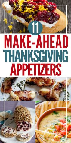 39 Easy and Delicious Make-Ahead Thanksgiving Appetizers   Edit + Nest