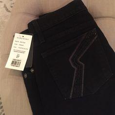 "Low rise black skinny jeans 29"" inseam. Beading in back pockets. Rock & Republic Jeans Skinny"