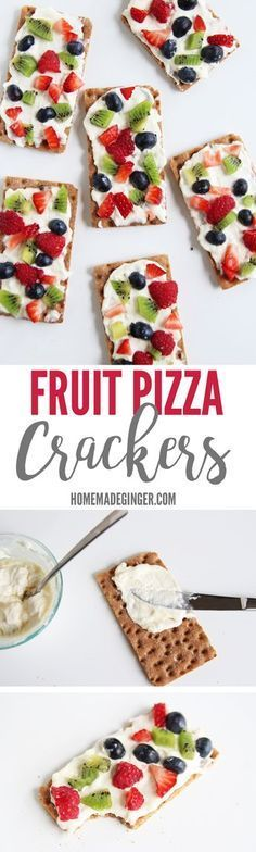 These mini fruit pizza crackers are not only healthy but so easy. Make them for a quick appetizer of after school snack! @walmart @barilla #ad #barillaplus #barillaglutenfree