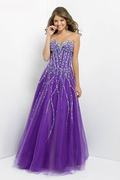 a-line lace-up natural waist long tulle sweetheart crystals prom dress