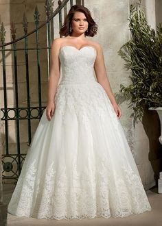 Dress style 3178 // From the Julietta plus size collection by Mori Lee.