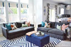 Sita Montgomery Interiors: Portfolio. Fun colors for a family room.