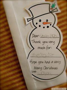 Easy Kid's Christmas Thank You Card