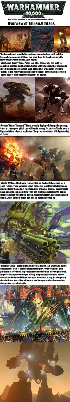 More 40k lore: This time TITANS!