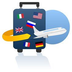 Illustration about Travel concept: world travel and holiday logo, with a trolley case and a plane, isolated on white background. World Clipart, Holiday Logo, Plane Photography, Travel Clipart, Trolley Case, Teen Summer, Travel Wallpaper, Packing List For Travel, Inspirational Videos