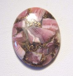 27.86Ct 30x23.5x5mm Oval Rhodochrosite Cabochon Wire Wrapping/Jewelry Making #Unbranded