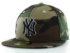 NEW ERA x MLB「New York Yankees Camo Pop」59Fifty Fitted Baseball Cap Gorras 44d00e7d4d1