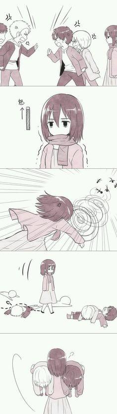 little Eren, Armin and Mikasa