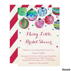 Christmas bridal shower invitation christmas wedding by daxyluu christmas bridal shower invitations filmwisefo