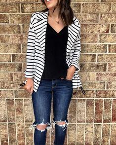 IG: @mrscasual | Stripe jacket