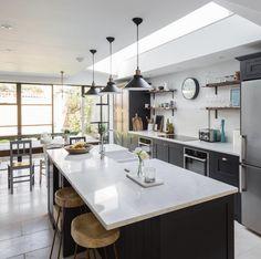 Shaker Style Kitchens, Farmhouse Style Kitchen, Home Decor Kitchen, Rustic Kitchen, Kitchen Furniture, Modern Farmhouse, Furniture Stores, Furniture Nyc, Cheap Furniture