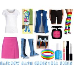 Rainbow dash Equestria girls inspired outfit