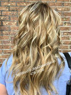 Blonde hilights, balayage. By Teri Ward at J McQueen Salon Cincinnati 478-3570