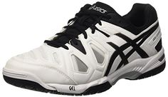 Asics Gel-Game 5, Chaussures de Tennis Homme, Multicolore (White/Black/Silver), 42.5 EU