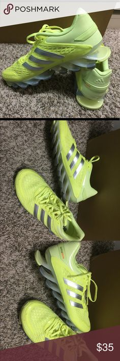 Adidas Sling blade sneakers size 10 Women's Adidas sling blade sneakers size 10.  Bright yellow.  Worn one time.  Like new.  Very cool looking and comfortable. adidas Shoes Sneakers