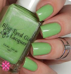 Blue-Eyed Girl Lacquer: Queen Lime Rose Zinnia (Special Edition) #blueeyedgirllacquer #begl #beglove #swatch #indiepolish