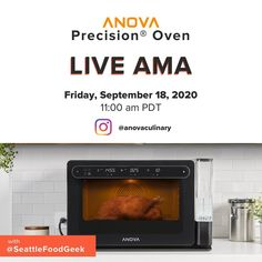 Want to learn more about the Anova Precision Oven? Join us tomorrow 9/18 at 11am pacific right here on Instagram Live as we dive deep into the Anova Precision Oven with our CMO and ultimate food nerd @seattlefoodgeek. Hit the link in our bio to RSVP! Tasty, Yummy Food, Sous Vide, Rsvp, Oven, Nerd, Link, Recipes, Instagram