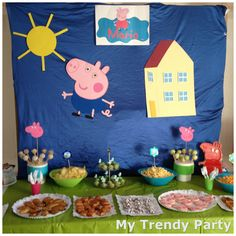 MESA PEPPA NIÑO Fiestas Peppa Pig, Cumple Peppa Pig, 4th Birthday Parties, Birthday Party Decorations, 3rd Birthday, Cumple George Pig, Christmas Decir, Peppa Pig Teddy, Birthdays